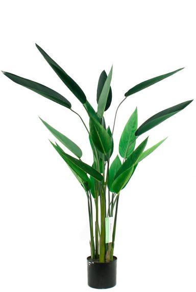Heleconia kunstplant met grote groene bladeren