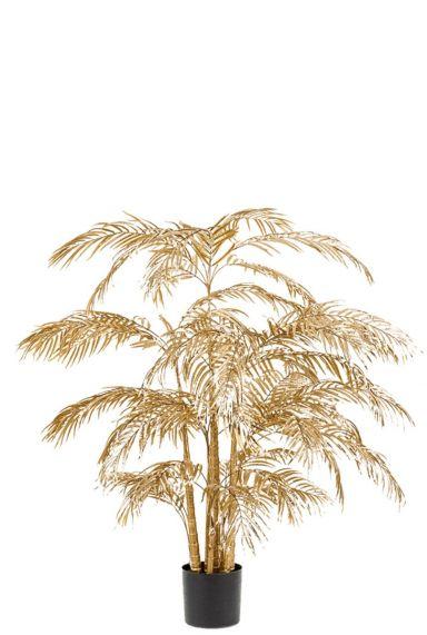 Areca palm goud kunstplant