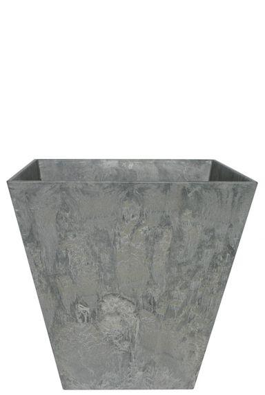 Artstone plantenbak grijs vierkant 35