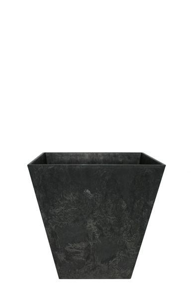 Artstone plantenbak zwart vierkant
