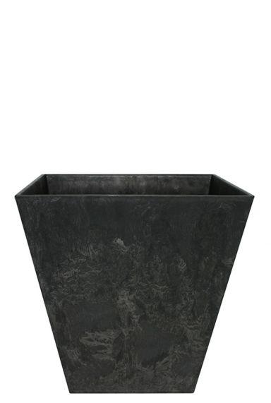 Artstone plantenbak zwart vierkant 30
