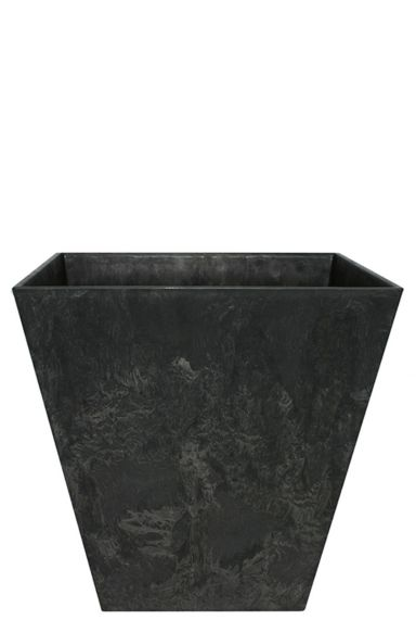 Artstone plantenbak zwart vierkant 35
