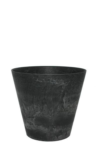 Artstone zwarte pot claire 27