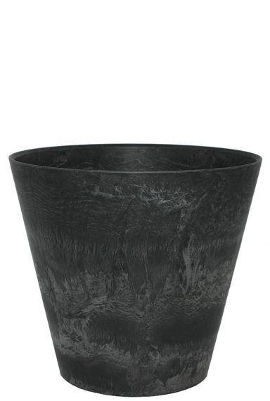 Artstone zwarte pot claire 43