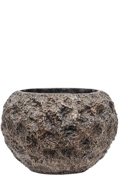 Baq brons plantenpot moon