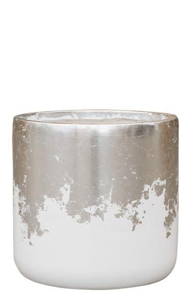 Baq plantenbak zilver wit