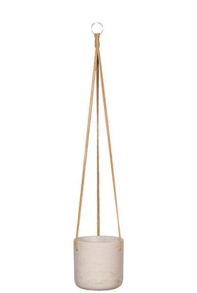 Beige hangpot touw