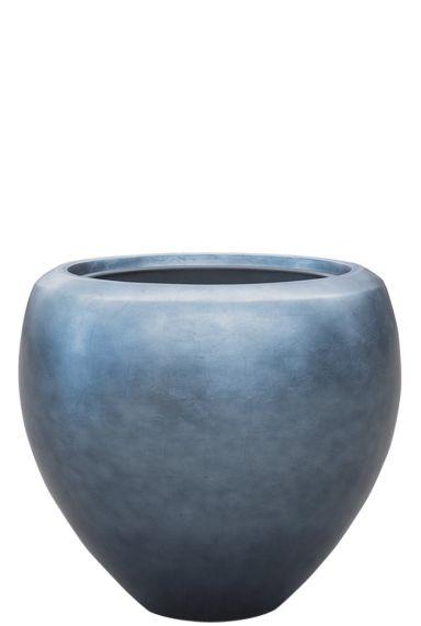 Blauw zilver plantenbak