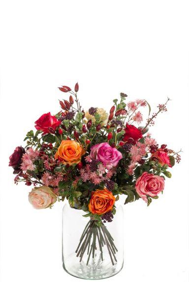 Bouquet bloemen kunstbloem