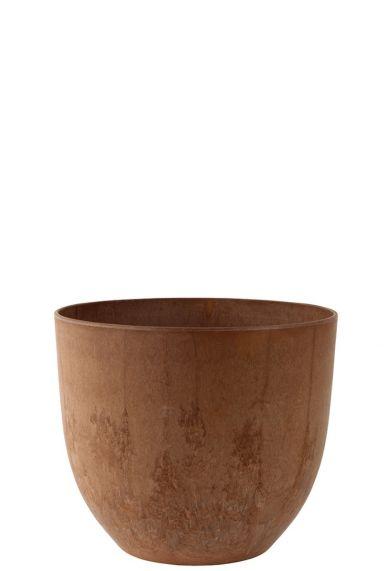 Bruin kleurige artstone pot 28