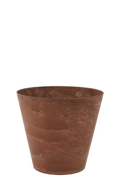 Bruine artstone plantenbak