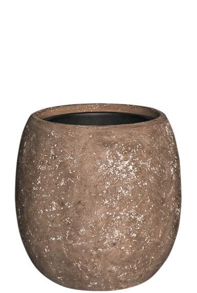 Bruine plantenpot betonlook
