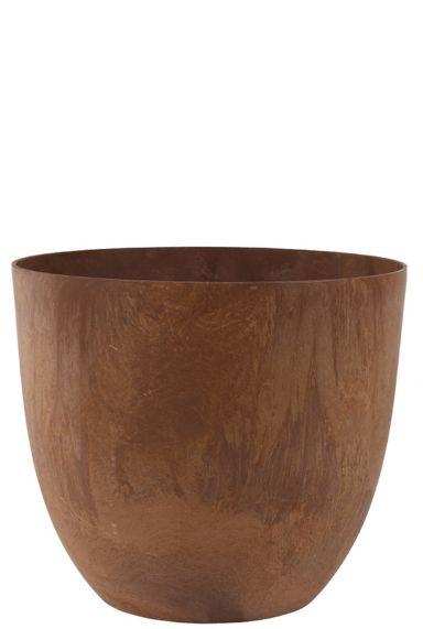 Bruine roest kleurige artstone pot