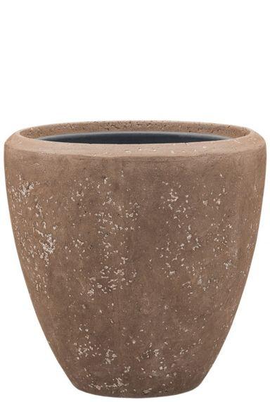 Bruine steen plantenbak