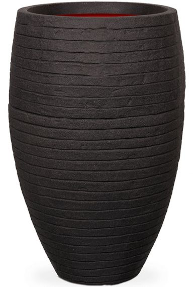 Capi plantenbak strepen zwart