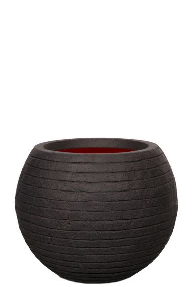 Capi vaas bol zwart pot