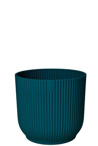 Elho plastic blauw pot 1