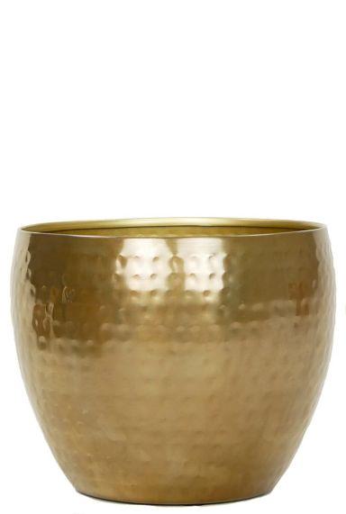 Goud bloempot metaal 1