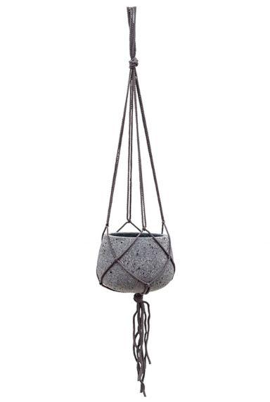 Grijs hangpot touw