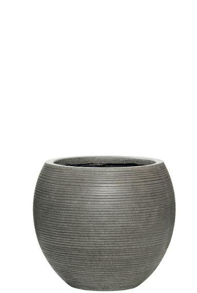 Grijze ronde pottery pot