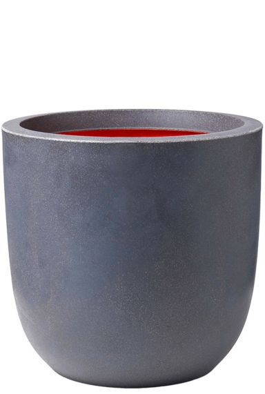 Grote antraciet betonlook pot