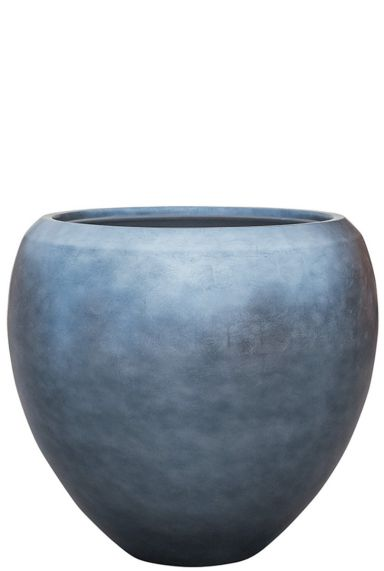 Grote baq plantenbak blauw zilver