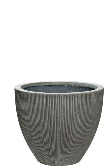 Grote grijze beton pot