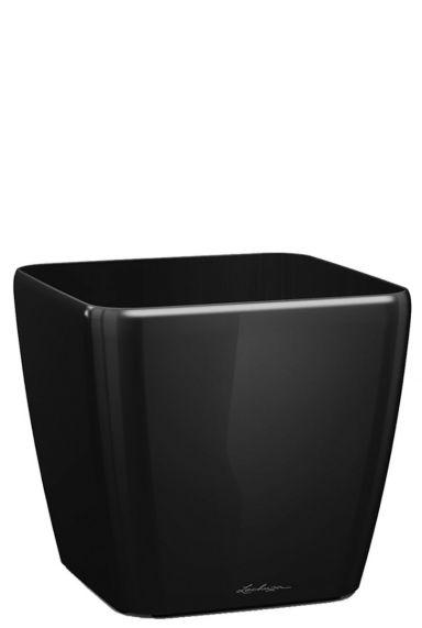 Grote lechuza vierkante pot zwart