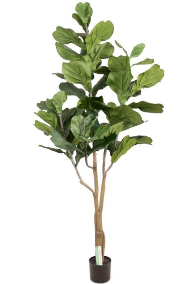 Grote lyrata tabaksplant kunstplant
