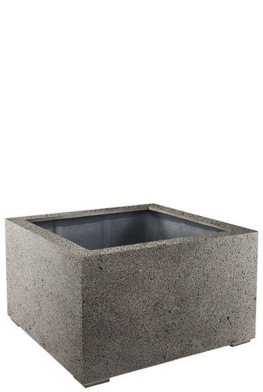 Grote plantenbak grijs beton