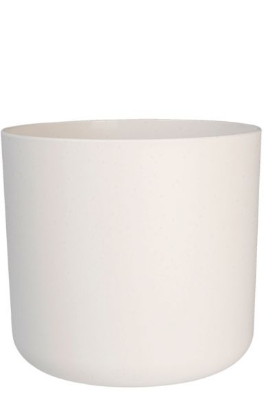 Grote witte plastic pot 1