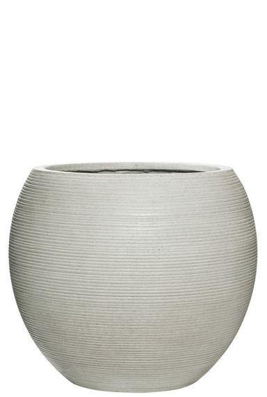 Grote witte pottery pot