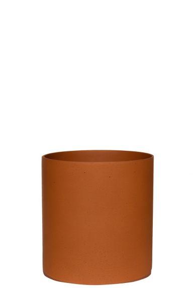 Hippe bloempot terracotta kamerplanten 1