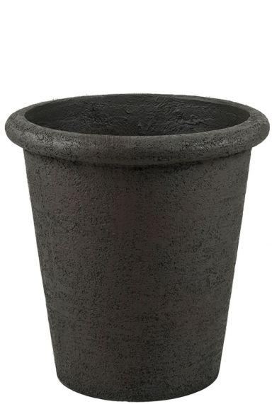 Hoge betonlook bruine pot