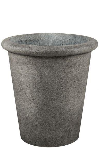 Hoge betonlook grijze plantenbak