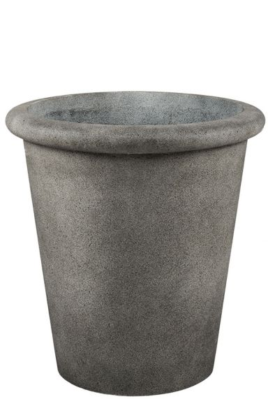 Hoge betonlook grijze pot