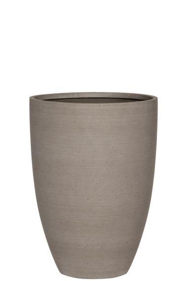 Hoge grijze betonlook pot