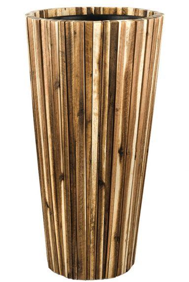 Hoge houten plantenbak waterdicht