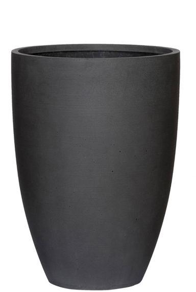 Hoge pot zwart plantenbak