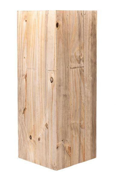 Hoge smalle houten plantenbak