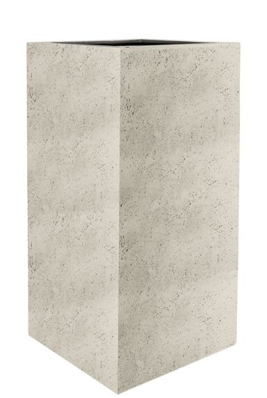 Hoge vierkante plantenbak beton