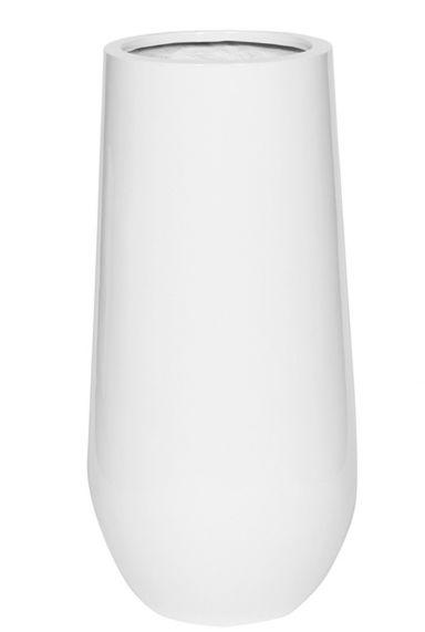 Hoogglans witte hoge vaas