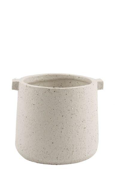 Indoor pottery - pot knob wit