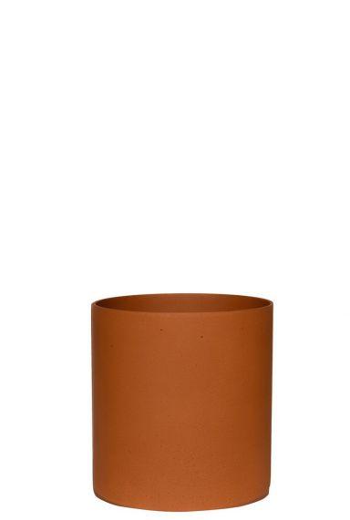 Klein terracotta potje