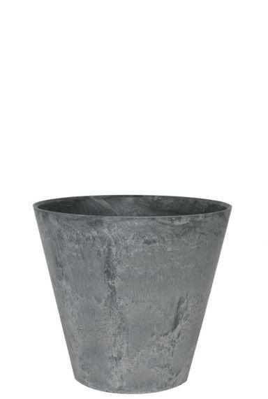 Kleine artstone grijs plantenpot