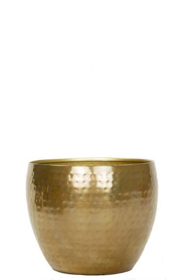 Kleine pot goud kamerplant