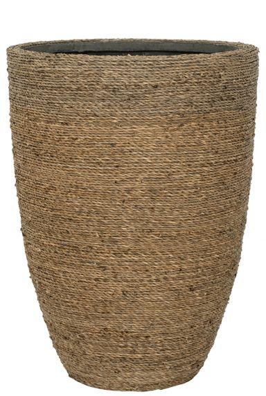 Mand gevlochten touw potten