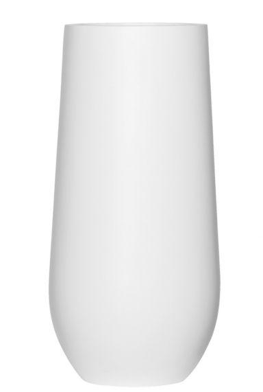 Mat witte hoge vaas