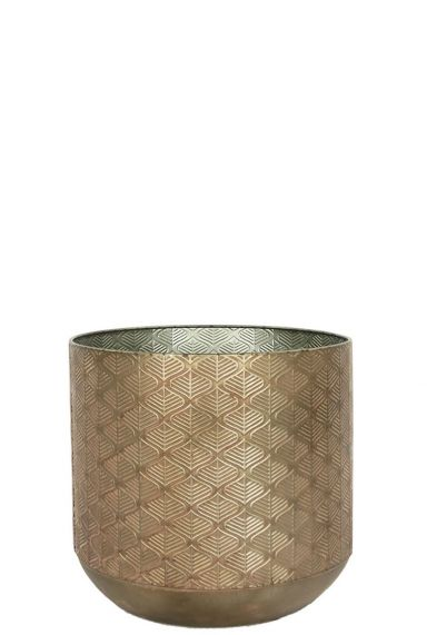 Populaire brons bloempot