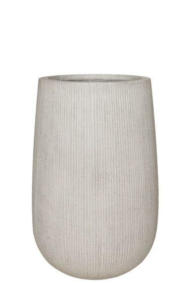 Pottery pot ridged plantenpot